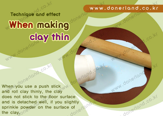 [angel clay] When making clay thin
