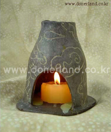 candle holder by ceramic oven clay