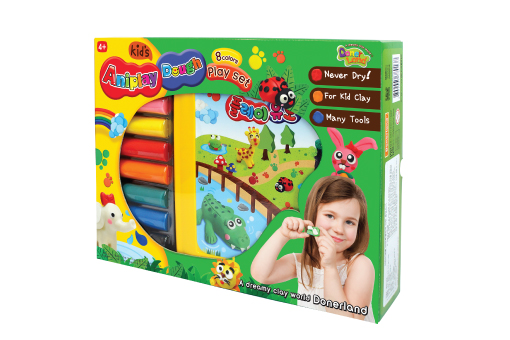Aniplay Dough-8colors play set